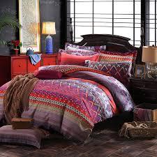 lelva colorful bohemian ethnic style bedding boho duvet cover bohemian sheet sets baroque style bedding 4