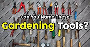 can you name these gardening tools