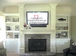 how to hide cords on brick fireplace mounted tv hiding wires above cable box suited design