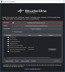 Downloadable Check Register 5 Studio One 4 Installing Additional Content Presonus Sound Sets