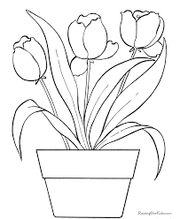 Small Picture Flower coloring pages of tulip 005