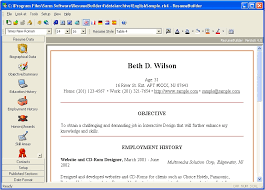 Free Resume Creator Software intended for Resume Maker Free Download
