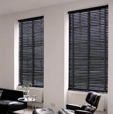 dark grey wood venetian blinds with tapes