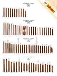 Cigar Chart Poster Amazon Com Habanos Cuban Cigar Size Guide Poster 4 Rows