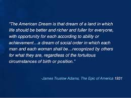James Truslow Adams American Dream Quote Best of Lisa Miller