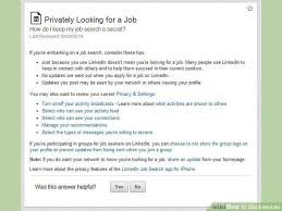 how to do job search 6 ways to use linkedin wikihow