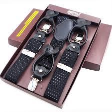<b>New Man's Suspenders</b> Leather Button Brace Strap <b>Fashion</b> ...