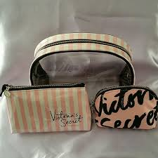 victoria secret cosmetic bag trio bundle