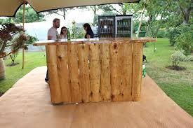 7ft wooden bar