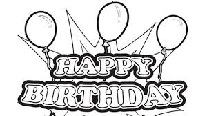 Happy Birthday Coloring Pages Birthday Coloring Book Downloads