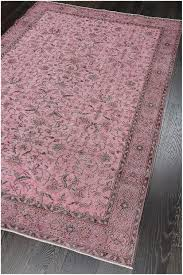 vintage patchwork overdyed pink wool rug 19046