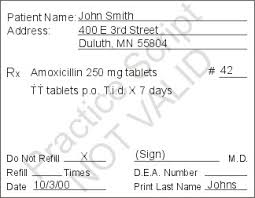 Sample Prescription
