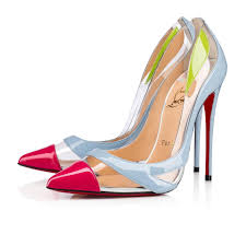 Designer Pvc Heels Christian Louboutin Blue Pink Green Blake Is Back 120 Colorblock Pvc Patent Leather Heels Pumps Size Eu 41 Approx Us 11 Regular M B 20 Off