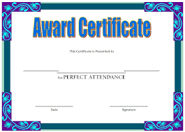 free perfect attendance certificate certificate of attendance template perfect certificates for the rest