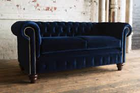 blue velvet chesterfield sofa. Perfect Chesterfield Image Is Loading TRADITIONALHANDMADE3SEATERPLUSHNAVYBLUEVELVET With Blue Velvet Chesterfield Sofa E