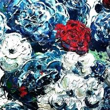 blue and white wall art original art abstract blue flowers painting textured red white blue navy blue and white wall art blue floral canvas wall art blue  on navy blue flower wall art with blue and white wall art original art abstract blue flowers painting