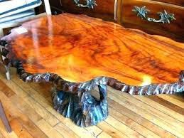 tree trunk table base round dining table with tree trunk base glass dining table tree trunk