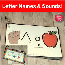 Letter Naming And Sound Fluency: Alphabet Book | Tpt Misc. Lessons ...