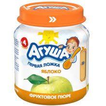 <b>Фруктовое пюре Агуша</b> Яблоко, 115 г - agulife.ru