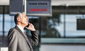 flight is cancelled due to weather