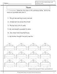 Common And Proper Nouns Worksheets Grade Free Com For Preschool ...