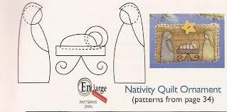 Nativity Quilt Ornament   carla-at-home & The pattern ... Adamdwight.com