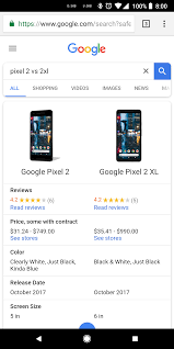 Google Search Can Now Compare Specifications Between Devices