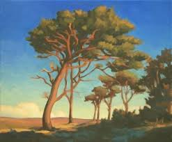 paintings of trees forest pines oil on canvas painting