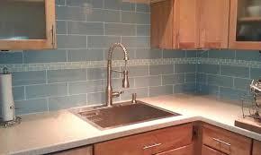lush fog bank 4x12 gray subway tile kitchen backsplash and corner installation closeup