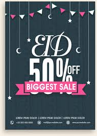 Eid Special Offer Sale Flyer Vector Set Free Vector In