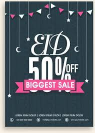 Special Offer Flyer Eid Special Offer Sale Flyer Vector Set Free Vector In