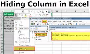 Hide Column In Excel Top 4 Super Easy Methods Including