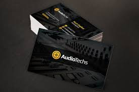 tech business card audio engineer business cards logo business card templates