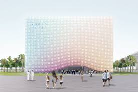 Desert Sky Pavilion Interactive Seating Chart Nooyoons App Controlled Façade For Korea Pavilion At Expo