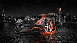 mercedes benz sls amg fire crystal car