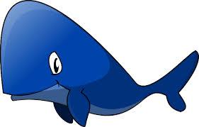 cartoon blue whale