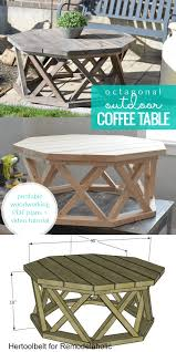 build an octagon outdoor coffee table