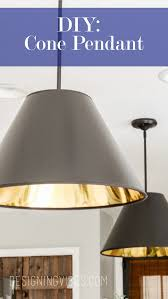 Cheap Pendant Light Fixtures Diy Cone Pendant Lights Cheap And Easy To Make Cheap