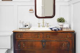 bathroom sink furniture. Vintage Dresser Used As Bathroom Vanity With Sink Furniture