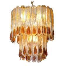 av mazzega crystal teardrops chandelier vintage info all about vintage lighting