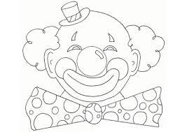 Disegno Di Pagliaccio Da Stampare Faccia Da Clown Da Colorare