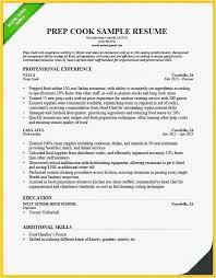Prep Cook Resume Free Templates Line Cook Resume Skills Prep Cook