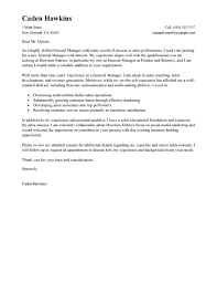 Best Solutions Of Best Sales General Manager Cover Letter Examples