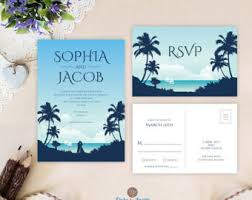 rustic wedding invitations by onlybyinvite on etsy Wedding Invitations And Rsvp Cards Cheap hawaiian wedding invitations with rsvp postcards printed on shimmer paper palm tree wedding invitations cheap wedding invitations and rsvp cards cheap