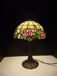 red rose stained glass table lamp shades photo 1