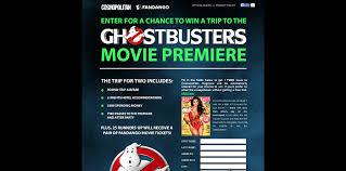 Cosmopolitan.com/Ghostbusters: Win A Trip To The Ghostbusters Movie Premiere