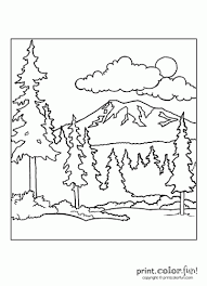 Forest Scene Print Color Fun Free Printables Coloring Pages