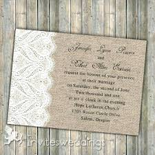 Burlap And Lace Wedding Invitations Burlap And Lace Wedding Invitations Rustic Burlap Lace Wedding