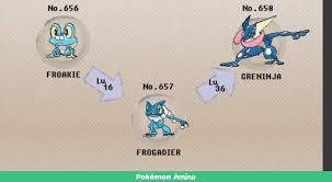Pokemon Froakie Evolution Chart