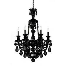 schonbek hamilton 6 light 33 black crystal chandelier